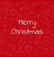 Hand drawn christmas red background