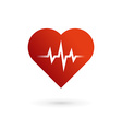 Heart cardiology symbol logo icon vector image vector image