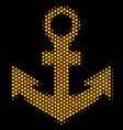 hexagon halftone anchor icon vector image