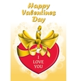 Holiday heart shaped card vector image vector image