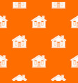 house pattern seamless vector image vector image