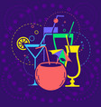 icon dark background cocktail party vector image vector image