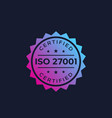 iso 27001 information security standard vector image vector image