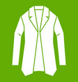 jacket icon green vector image