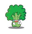 joy broccoli chracter cartoon style vector image vector image