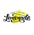 lemonade logo badge calligraphy logotype vector image vector image