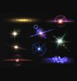 lens flare light digital overlaid shining vector image vector image