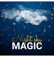 Magic Space cloud Fairy Dust Abstract Universe vector image vector image