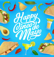 mexican food and drink cinco de mayo fiesta party vector image vector image