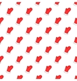 Mitten pattern cartoon style vector image vector image