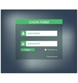 Modern login form for website vector image vector image