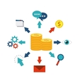 money finance icon design vector image