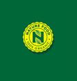 nature emblem n letter n monogram vector image