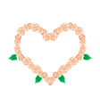 Orange Glory Bower Flowers in Heart Shape vector image vector image