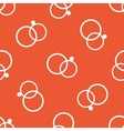 Orange wedding rings pattern vector image vector image