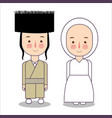 orthodox jewish wedding clothes traditional vector image vector image