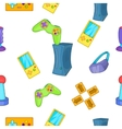 Play station pattern cartoon style vector image vector image