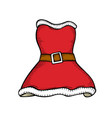 santa clothes on white vector image