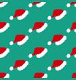 santa hat pattern vector image vector image