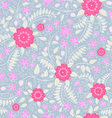 Seamless pattern with flowers and strawberry vector image vector image