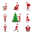 set cartoon Santa Claus ready for Christmas vector image vector image