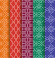 Set of Arabic geometric seamless patterns Ethnic vector image vector image