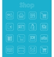 Set of shop simple icons vector image