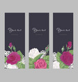 set romantic vertical banner on dark background vector image vector image