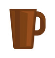 simple brown cup vector image