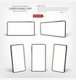 smart phone template presentation interface vector image