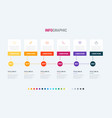 square workflow process for business vector image vector image