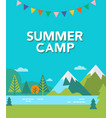 summer camp background vector image vector image