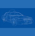 taxi outline drawing vector image