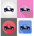 transport flat icons 45 vector image