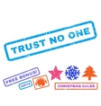 Trust No One Rubber Stamp vector image vector image