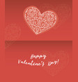 valentine s day greeting cards ornate element vector image