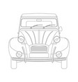 vintage car lining draw vector image vector image