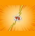 vs comics vector image vector image