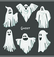 whisper ghost hand draw set vector image