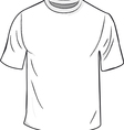 White T Shirt Template vector image