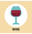 wine cup vector image