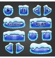 Winter buttons with snow vector image vector image