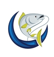 Catching Fish Emblem vector image