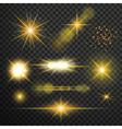 Transparent glow light effect vector image