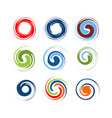 abstract circle swirl element swirl template eps vector image vector image