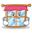 angry windows character cartoon style vector image
