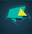 banner green origami style banner template vector image