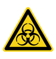 biohazard yellow sign vector image