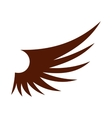 Brown wing icon flat style vector image vector image