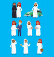 cartoon arabic businessman characters in vector image